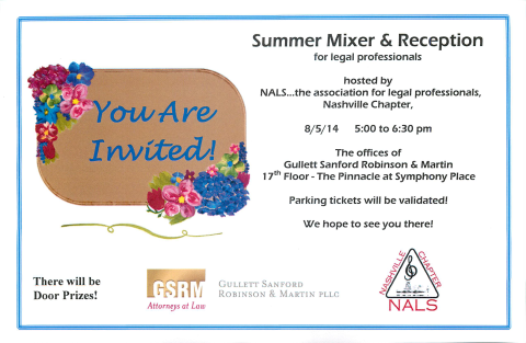 Summer Mixer & Reception