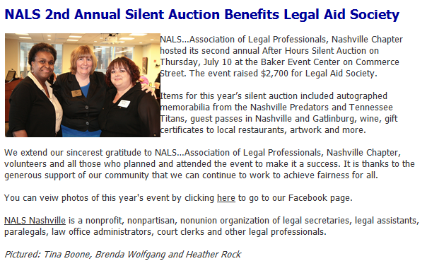 Silent Auction Blurb