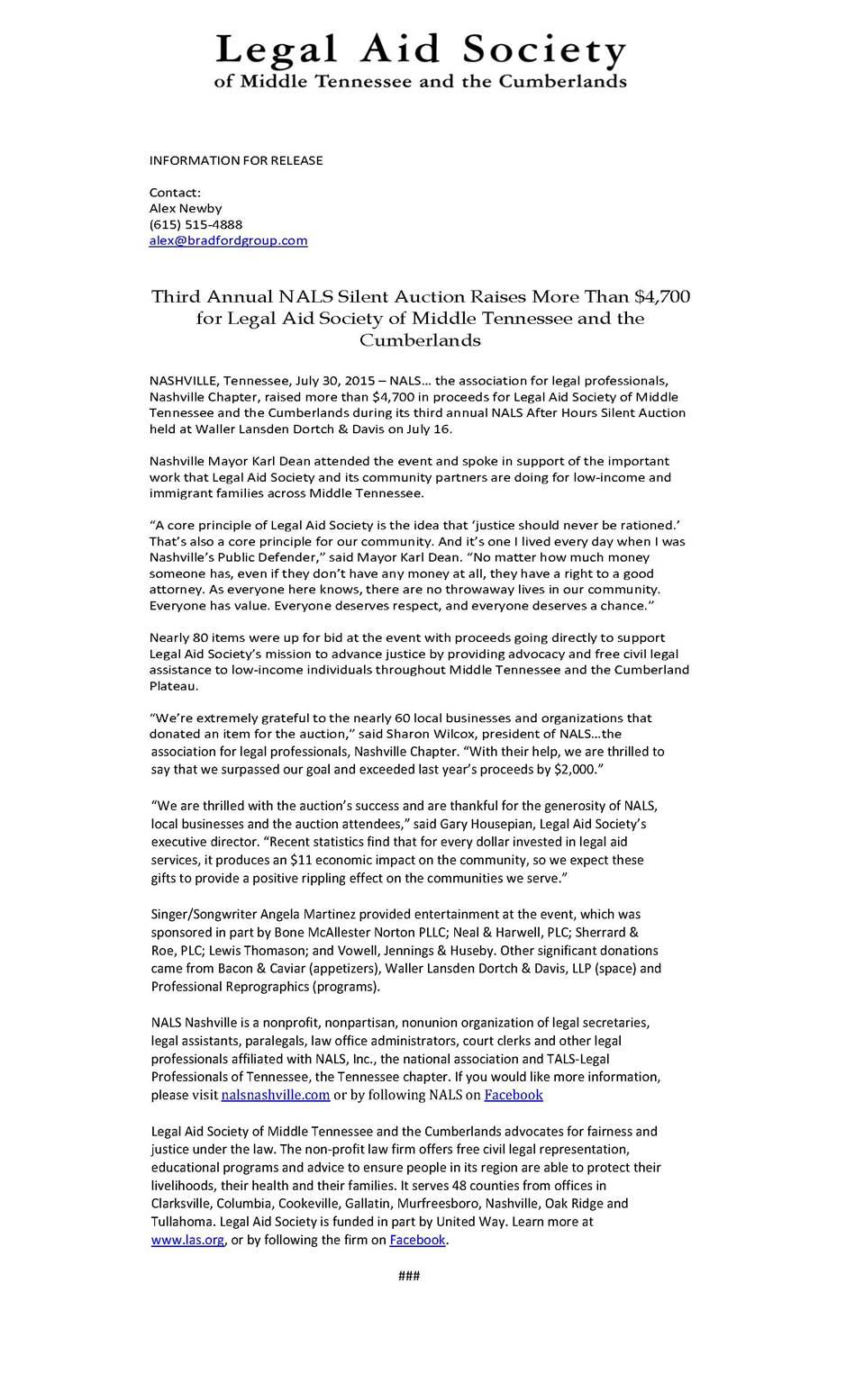 Press Room Nalse Association For Legal Professionals